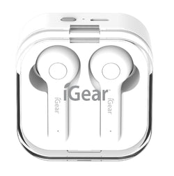 iGear WIRELESS EARPHONE WITH CHARGING CASE-WHITE