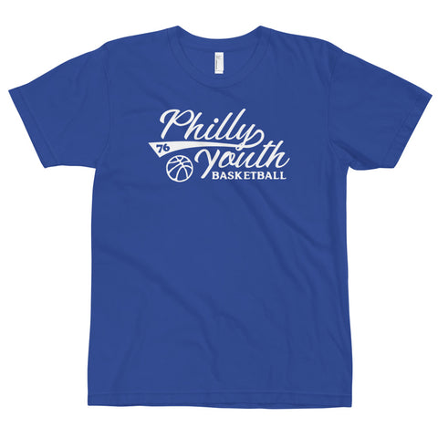 Philly Youth Basketball Adult Tee Blue