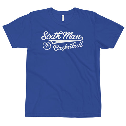 Sixth Man Basketball Tee Blue