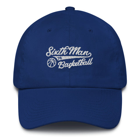 Sixth Man Basketball Hat Blue