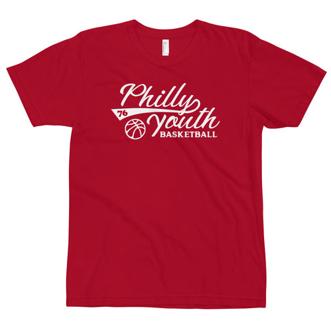 Philly Youth Basketball Adult Tee Red