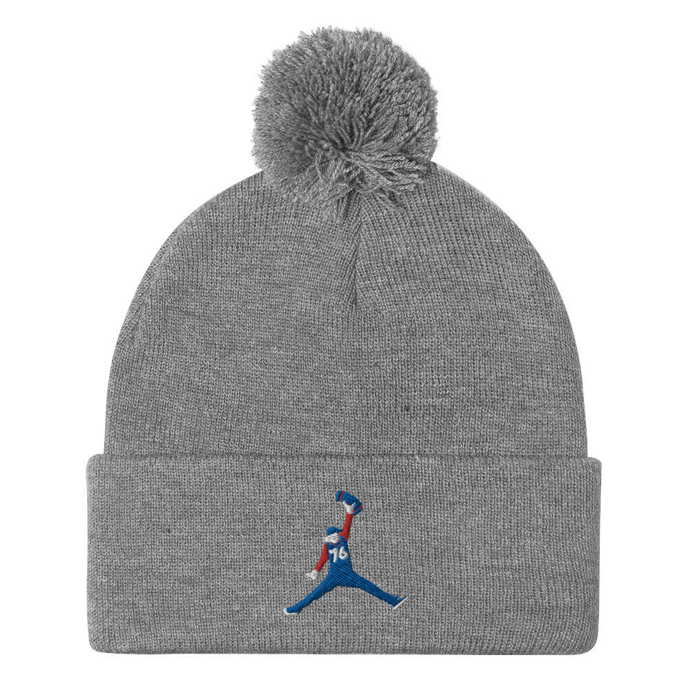 Sixth Man Jumpin' Towel Pom-Pom Beanie Grey
