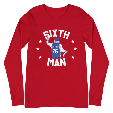 Sixth Man Rally Towel Long Sleeve Tee Red