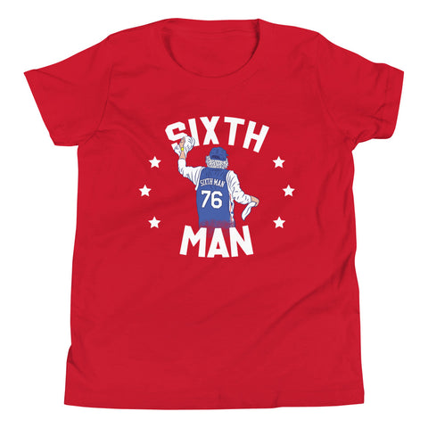Kids Sixth Man Rally Towel Tee Red