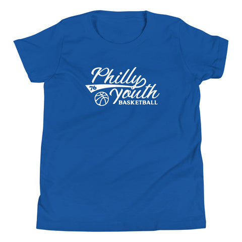 Kids Philly Youth Basketball Tee Blue