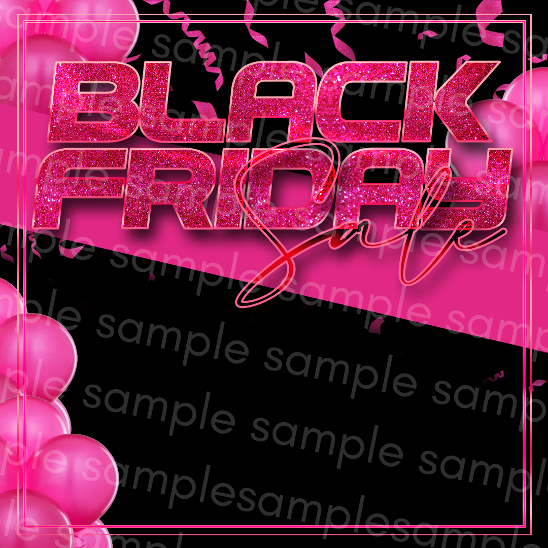 Black & Pink Black Friday Flyer