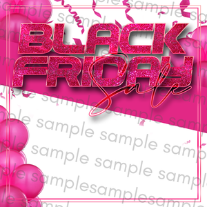 White & Pink Black Friday Flyer
