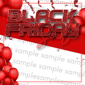 White & Red Black Friday Flyer