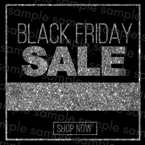 Black & Silver Black Friday Flyer
