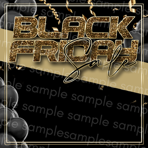 Black & Gold Black Friday Flyer