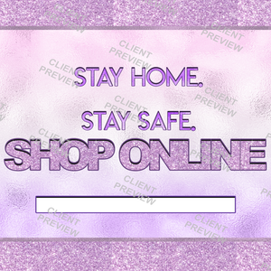 Purple Stay Home Flyer