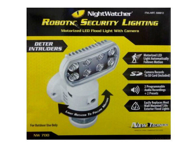 Nightwatcher security light with camera white motion sensing outdoor security light with camera workwithnaturefo