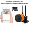 Outdoor Wi-Fi Camera with Smartphone Control and Alerts