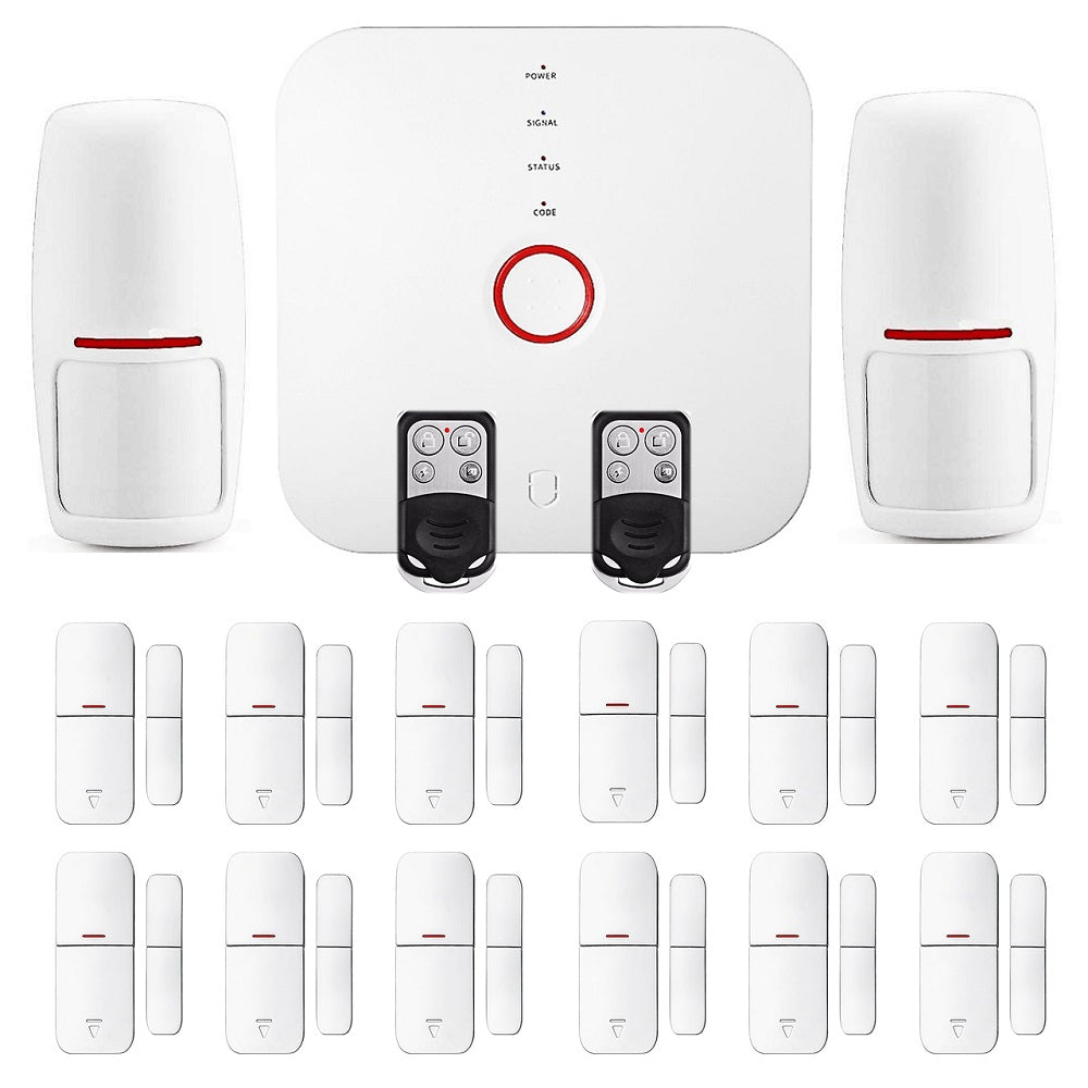 Smart Wi-Fi Alarm System - Wireless Home Security Package