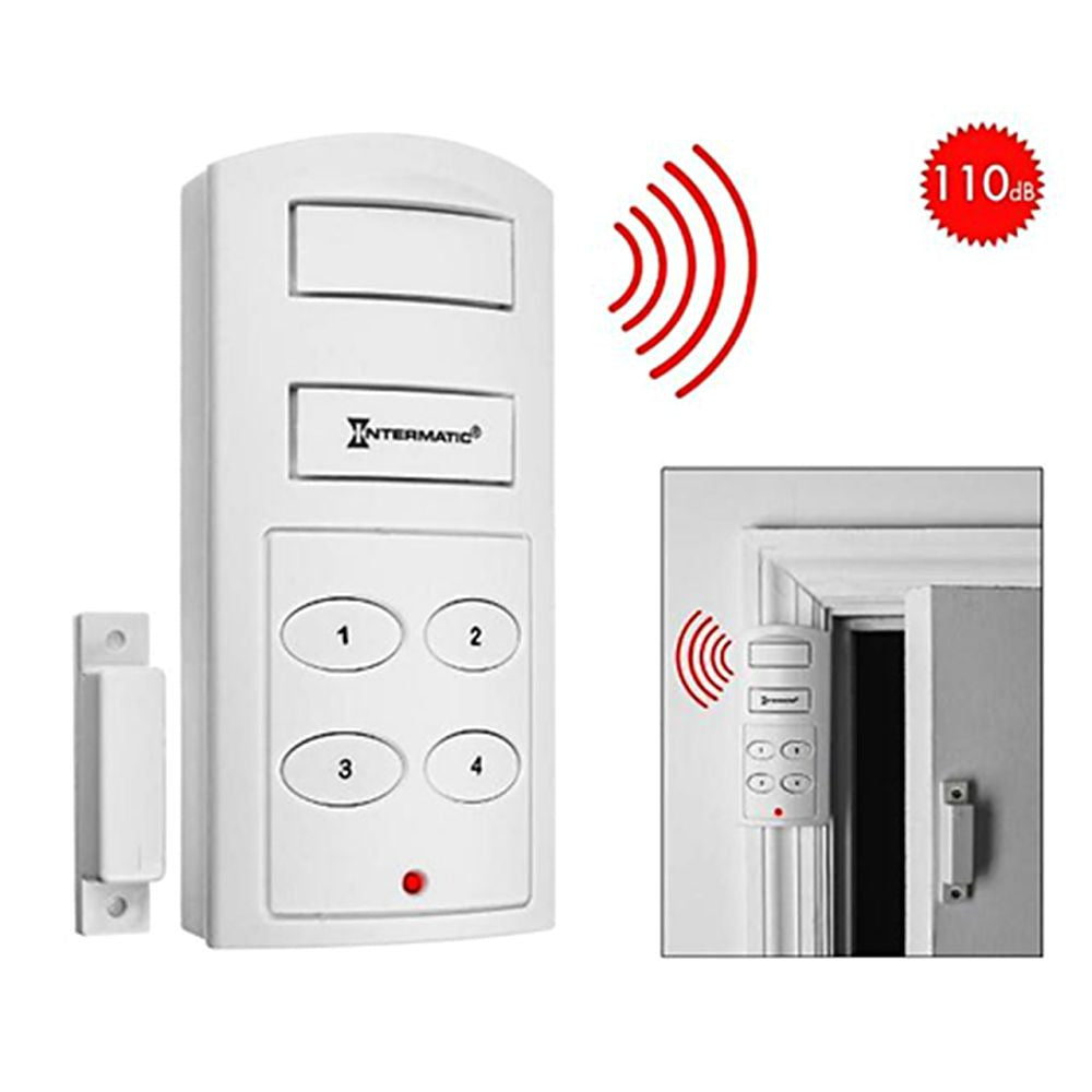 Wireless Door Alarm with Programmable Keypad