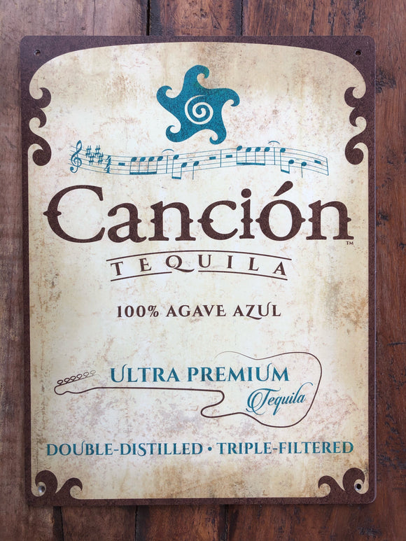 Canción Tequila Tin Sign