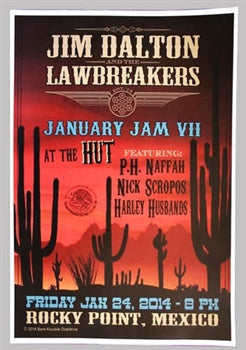 JIM DALTON & THE LAWBREAKERS POSTER FROM 1/24/14