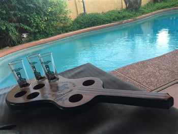 MEXICAN MOONSHINE TEQUILA GUITAR SHOT SERVER