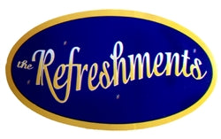 REFRESHMENTS STICKER