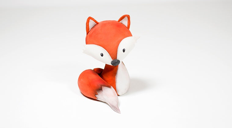 Video tečaj: Lisička, jedilna figurica / Edible sugar paste fox