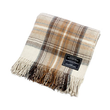 Load image into Gallery viewer, Recycled Wool Scottish Tartan Blanket - Malt