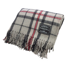 Load image into Gallery viewer, Recycled Wool Scottish Tartan Blanket - Grey