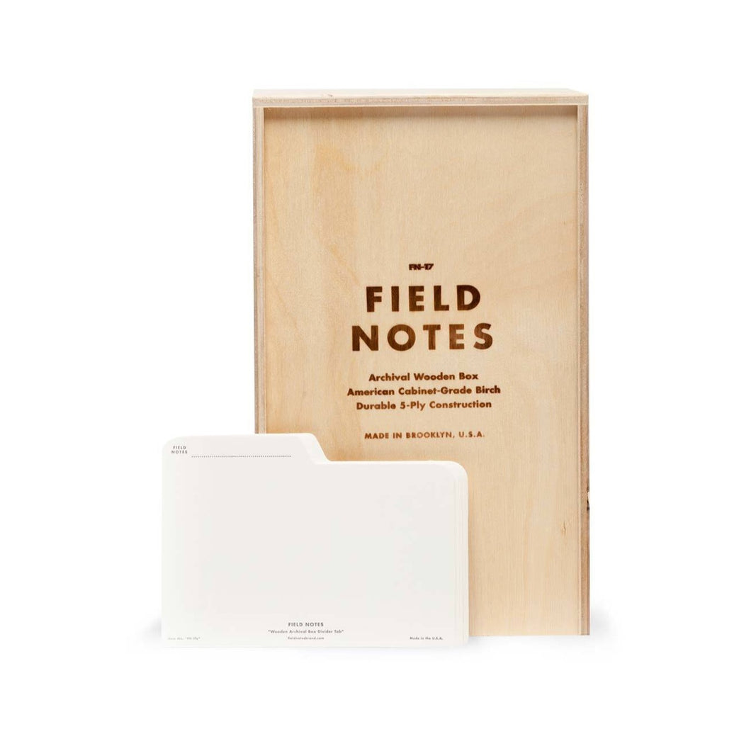 Archival Wooden Box | Field Notes
