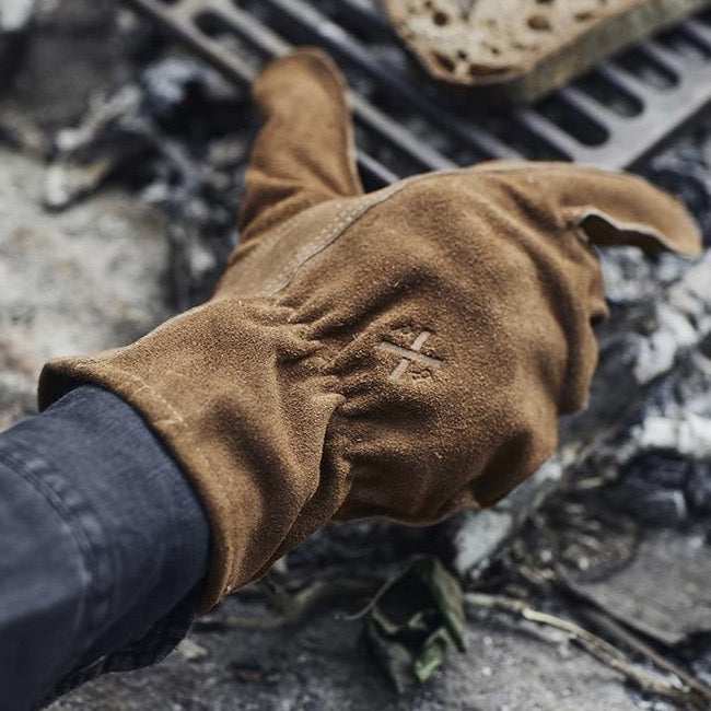 Fire's Up Heat Resistant Gloves| Golden Tan Leather