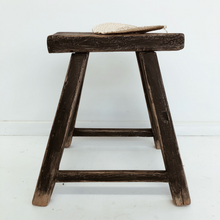 Load image into Gallery viewer, Elm Workers Stool I Dark