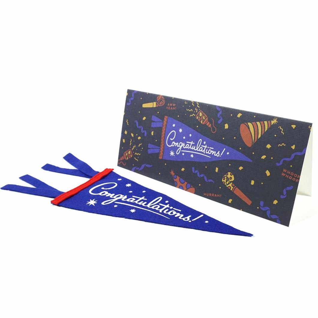 Congratulations Pennant Card