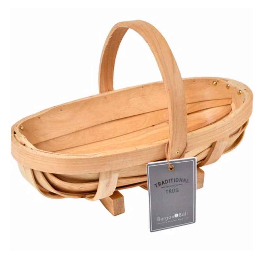 Natural Wooden Trug | Medium