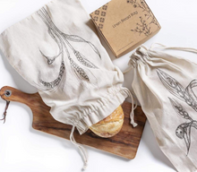 Load image into Gallery viewer, Linen Bread Bag | Set of 2