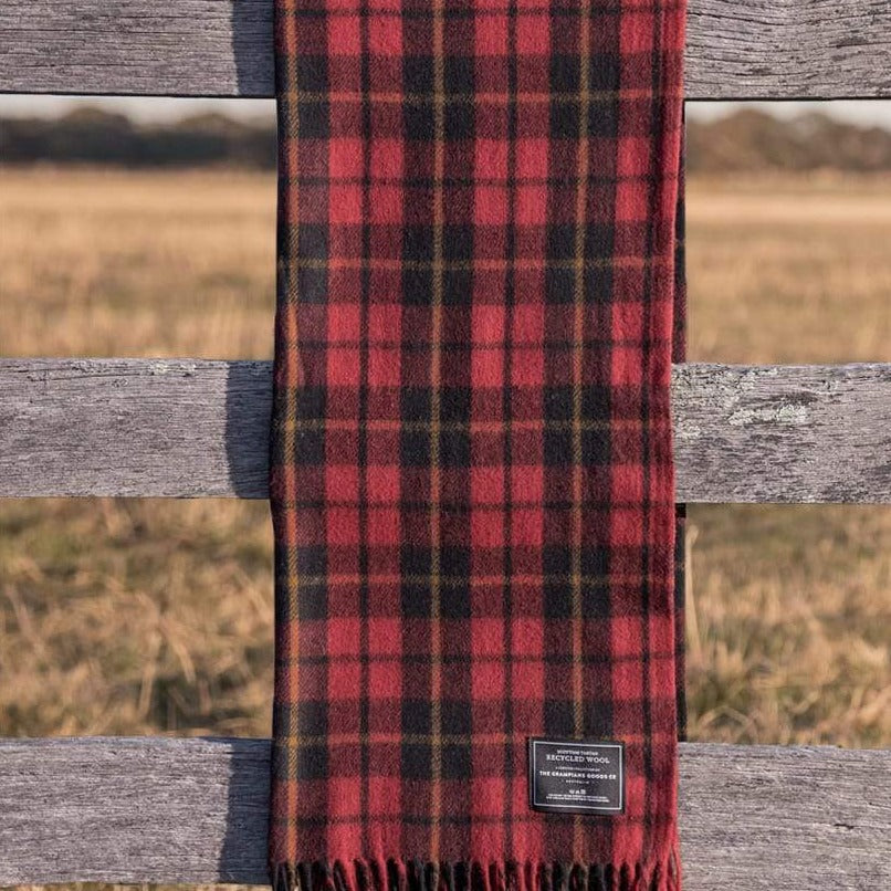 Recycled Wool Scottish Tartan Blanket - Rebellion