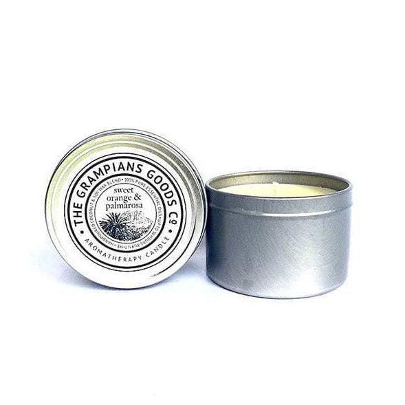 Orange & Palmarosa Travel Tin Candle