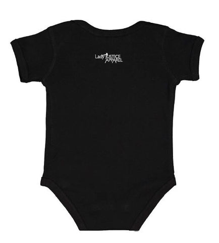 Lady Justice Apparel™ Baby Onesie with Lady Justice Apparel™ Logo