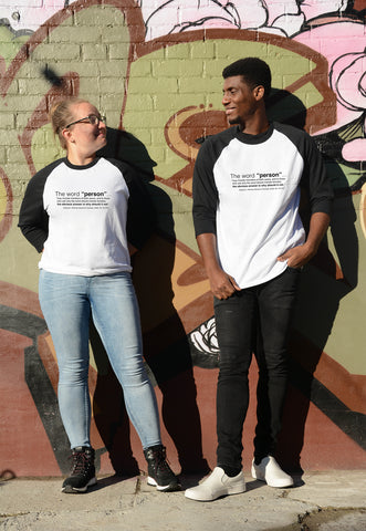 Models wearing Lady Justice Apparel™ copyright protected Persons Day Shirt