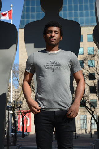 Lady Justice Apparel™  This is What A Law Student Looks Like Design on Male Model