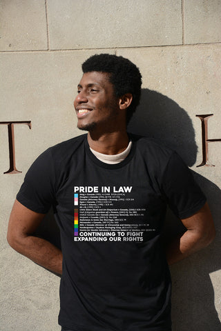 Lady Justice Apparel™ PRIDE in LAW – 2021 Limited Edition PRIDE Caselaw Shirt