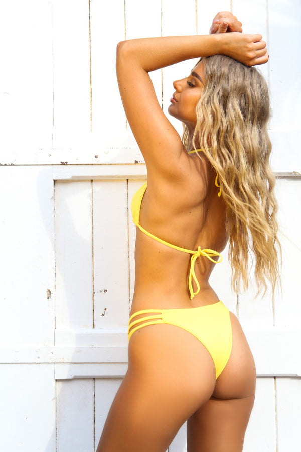 Yellow three strap