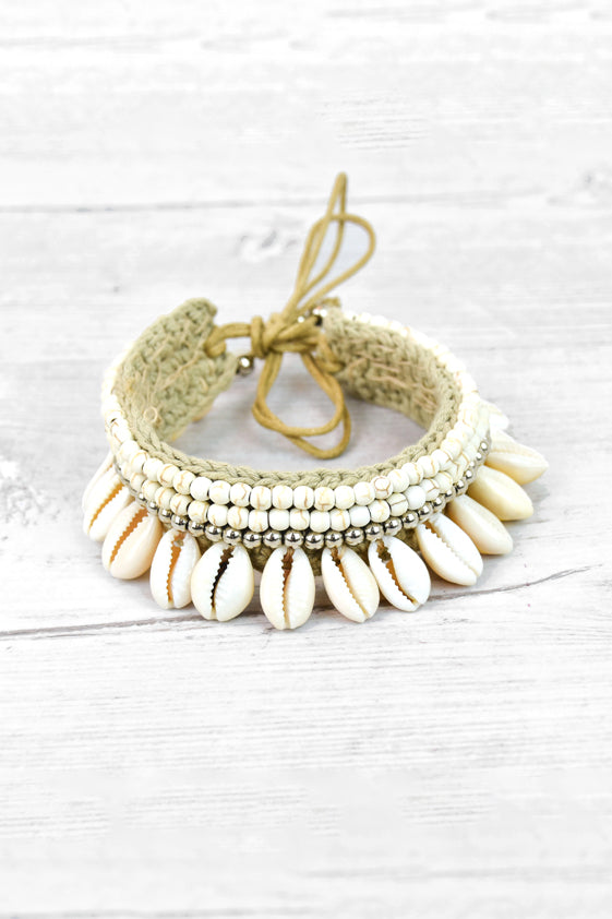Shell anklet / necklace