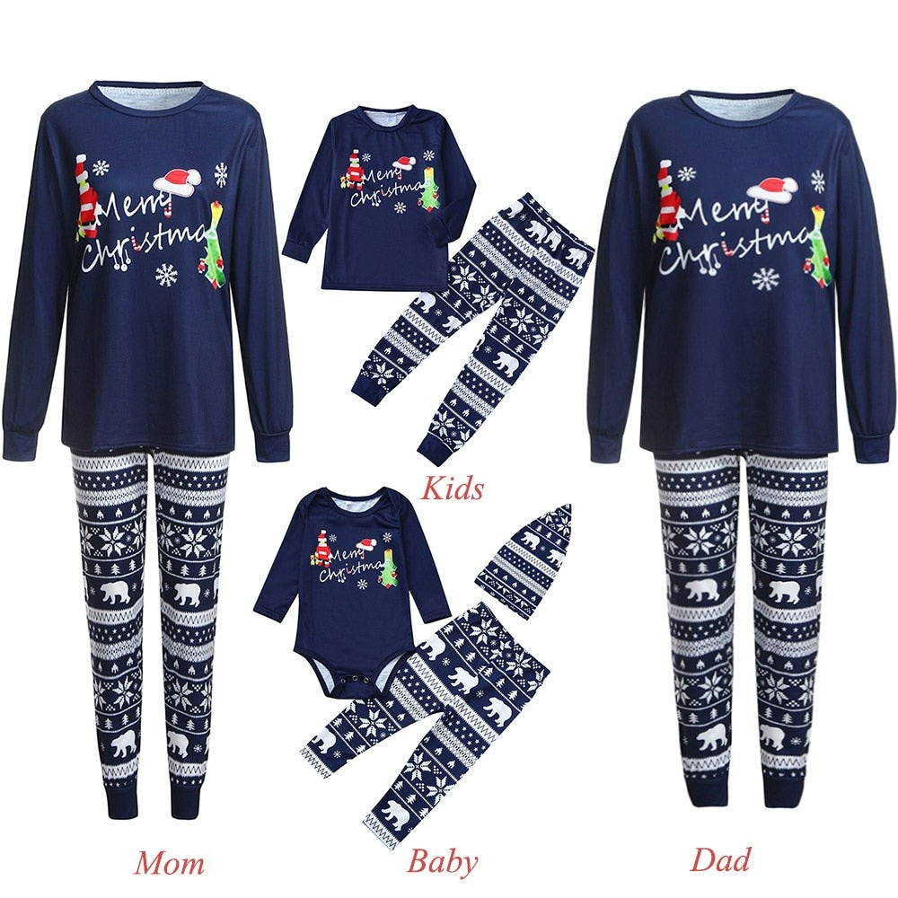 Navy Blue Family Pajamas SETS OF 4 EACH