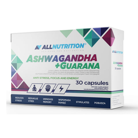 Allnutrition Ashwagandha + Guarana 30caps