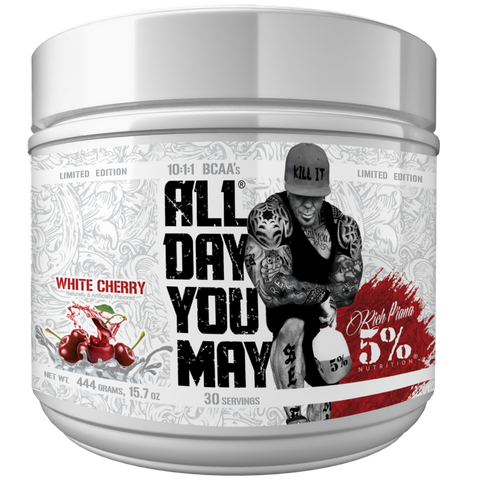 Rich Piana 5% Nutrition All Day You May Limited Edition White Cherry 444g