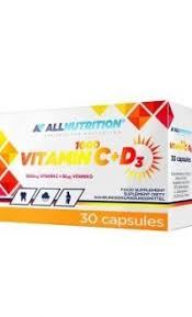 Allnutrition Vitamin 1000 C+D3 30caps