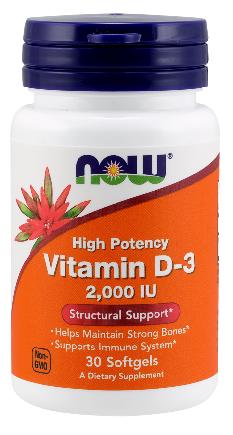 NOW Vitamin D-3 2000iu 120softgels