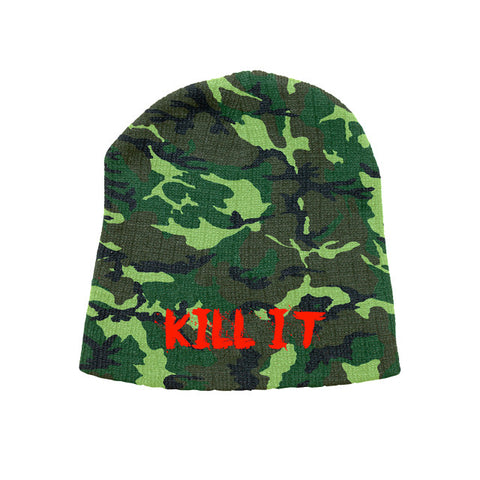 5% Nutrition Love It Kill It Beanie Camo and Red