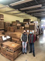 Matt Mauser and Marty Boyer with 3D Corrugated