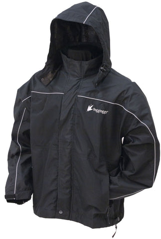 Frogg Toggs® Toadz™ Highway Reflective Jacket - Black & Silver