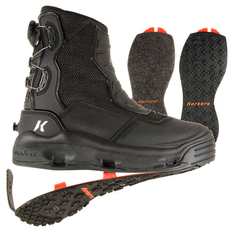 Korkers® Hatchback™ Wading Boots - Felt & Kling-On - FB4910