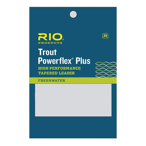RIO™ Powerflex Plus Trout Leaders - 1, 2 & 3 Pack of Fly Fishing Leaders